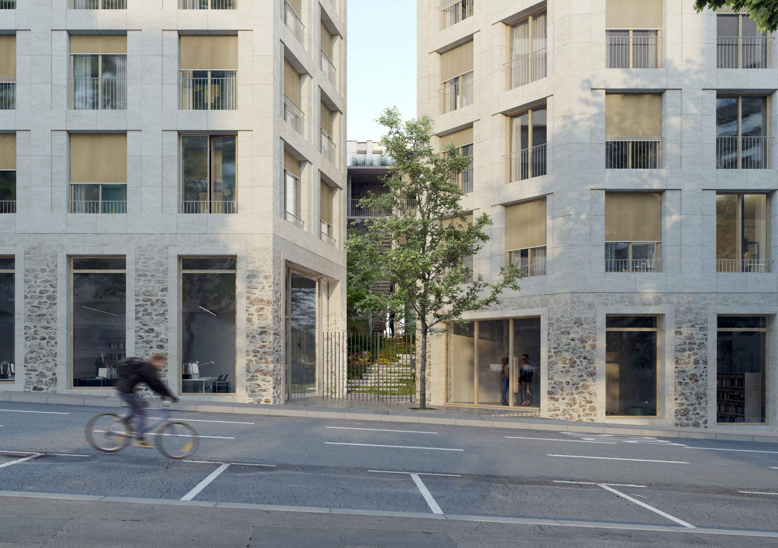 Construction d'immeubles mixtes logements et bureaux